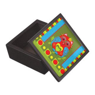 ロマンチックなフクロウ及びパターンが付いているかわいいギフト用の箱 ギフトボックス
