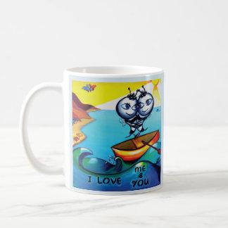 ロマンチックなマグ「私はme&youを愛します コーヒーマグカップ