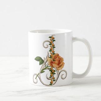 ロマンチックなモモは上がりました コーヒーマグカップ
