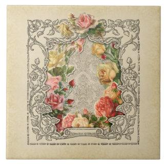 ロマンチックなヴィンテージの彫刻が施されたバラ タイル
