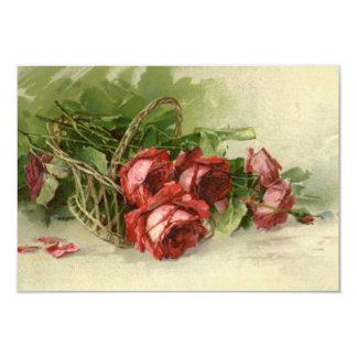 ロマンチックなヴィンテージ愛は、ロマンス日付を救います 8.9 X 12.7 インビテーションカード