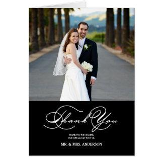 ロマンチックな原稿の結婚式は写真のメッセージカード感謝していしています カード