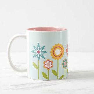 ロマンチックな庭のマグ ツートーンマグカップ