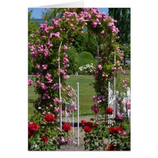 ロマンチックな庭 カード