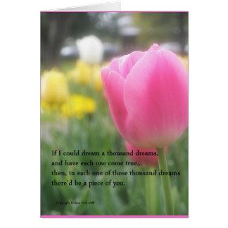 ロマンチックな愛詩の挨拶状 カード