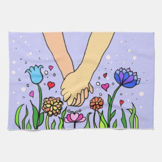 ロマンチックな把握手-デートすること/記念日のギフト キッチンタオル