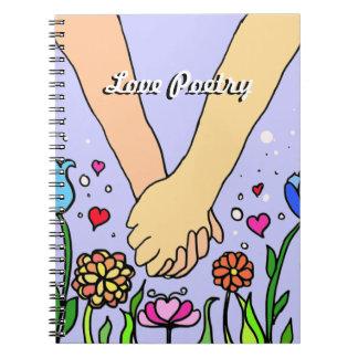 ロマンチックな把握手-デートすること/記念日のギフト ノートブック