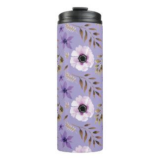 ロマンチックな描かれた紫色の花の植物のパターン タンブラー