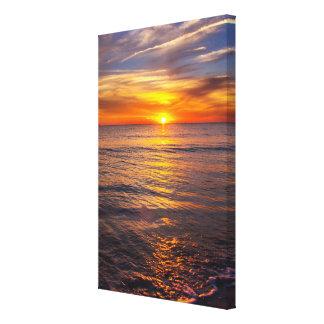 ロマンチックな日没のキャンバス24x36 キャンバスプリント