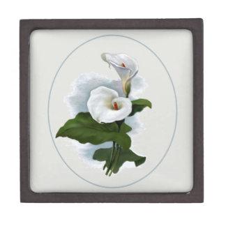 ロマンチックな植物のスタイルの白いオランダカイウユリ ギフトボックス