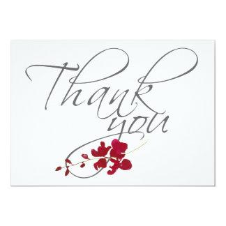 ロマンチックな深紅の赤い葉は結婚式の写真感謝していしています カード