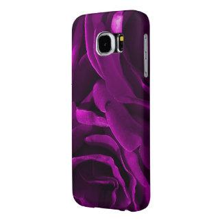 ロマンチックな紫色のバラの花柄の写真 SAMSUNG GALAXY S6 ケース