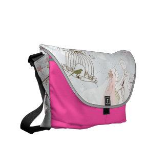 ロマンチックな結婚式のバッグのピンク メッセンジャーバッグ