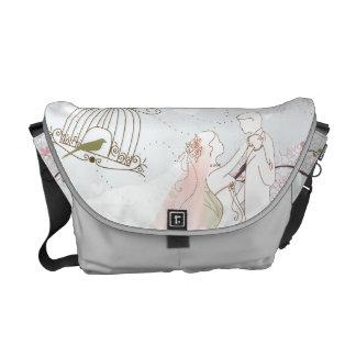 ロマンチックな結婚式のバッグの銀 メッセンジャーバッグ