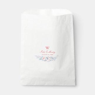 ロマンチックな花のリースの結婚式の引き出物のバッグ フェイバーバッグ