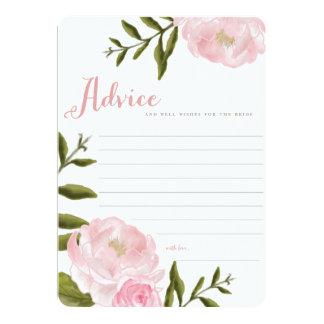 ロマンチックな花の結婚式のアドバイスカード カード