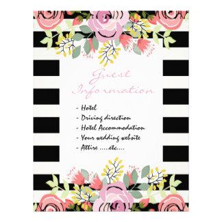 ロマンチックな花の結婚式のゲスト情報 レターヘッド