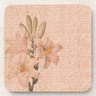 ロマンチックな花ユリ コースター