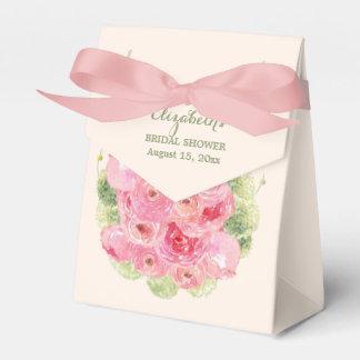 ロマンチックな花柄のブライダルシャワーの好意箱 フェイバーボックス