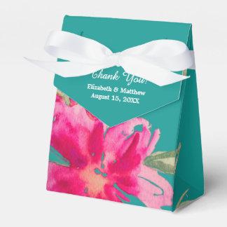 ロマンチックな花柄の結婚式の引き出物箱 フェイバーボックス