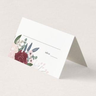 ロマンチックな花模様、座席表 プレイスカード