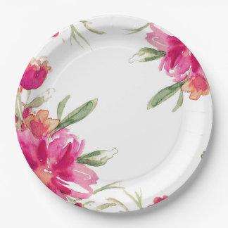 ロマンチックな花|の卒業パーティーの紙皿 ペーパープレート