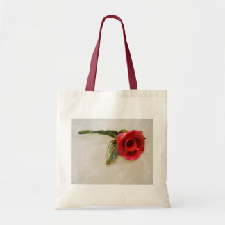 ロマンチックな赤いバラのバッグ トートバッグ
