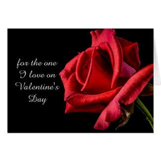 ロマンチックな赤いバラのバレンタインデーカード カード