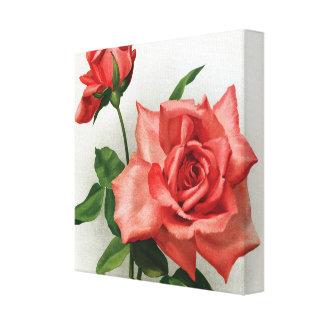 ロマンチックな赤いバラの包まれたなキャンバス キャンバスプリント