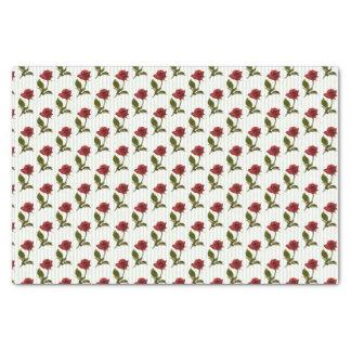 ロマンチックな赤いバラの花の写真パターン 薄葉紙