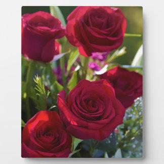 ロマンチックな赤いバラの花束 フォトプラーク