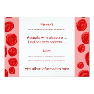 ロマンチックな赤いバラパターン。 ピンク カード