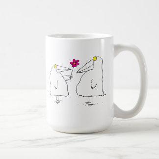 ロマンチックな鳥 コーヒーマグカップ