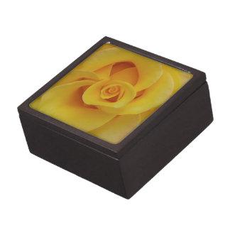 ロマンチックな黄色のバラの花びら ギフトボックス