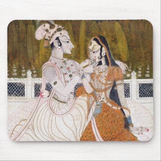 ロマンチックなKrishnaおよびRadha マウスパッド