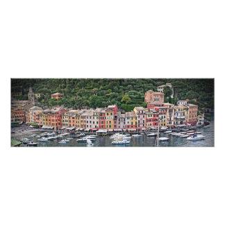 ロマンチックなPortofino、イタリア-クラシックなイタリア フォトプリント
