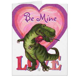 ロマンチックなTRexは私の物大きいカードです カード