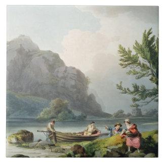 「ロマンチックのおよび写真からのWyndermereの湖、 タイル