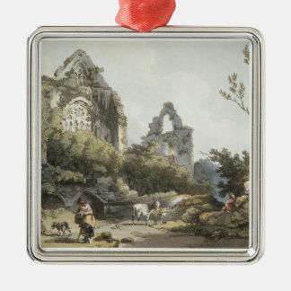 「ロマンチックのからのTinternの大修道院、および絵のよう メタルオーナメント