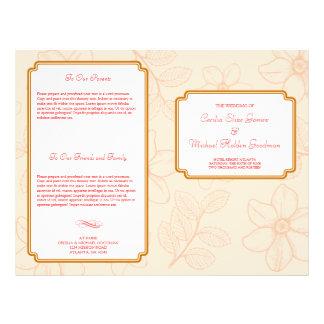 ロマンチック|春|庭|花柄|結婚|プログラム