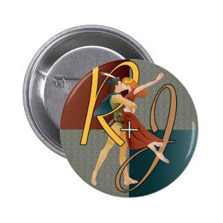 ロミオおよびJulietのバレエ 5.7cm 丸型バッジ