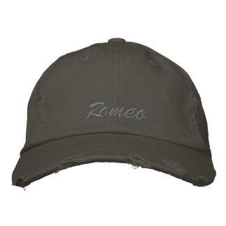 ロミオは帽子/帽子を刺繍しました ベースボールキャップ