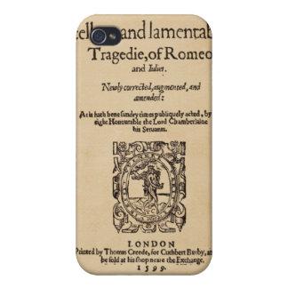 ロミオ及びJulietのQuarto (1599年)への前部部分 iPhone 4 ケース