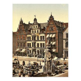 ロランドの記念碑、ブレーメン、ドイツまれなPhotochrom ポストカード