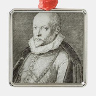 ロランドde Lassus 1593-94年のポートレート メタルオーナメント