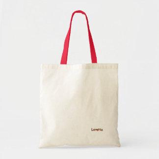 ロレッタのキャンバスのバッグ トートバッグ