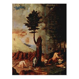 ロレンツォ・ロット著アレゴリー(慎重さのアレゴリー) ポストカード