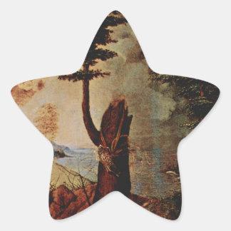 ロレンツォ・ロット著アレゴリー(慎重さのアレゴリー) 星シール