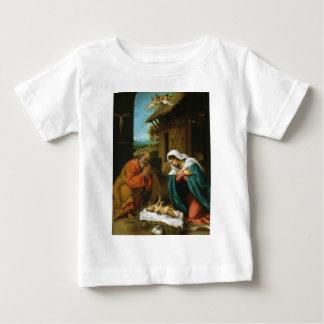 ロレンツォ・ロット著出生Christi Geburt ベビーTシャツ