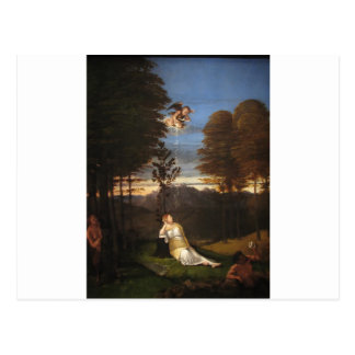 ロレンツォ・ロット著純潔のアレゴリー ポストカード